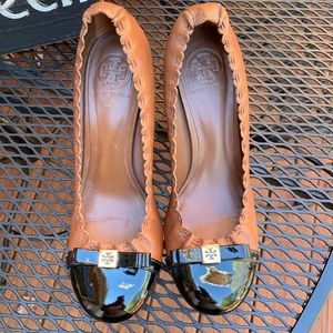 Tory Burch brown and black heels